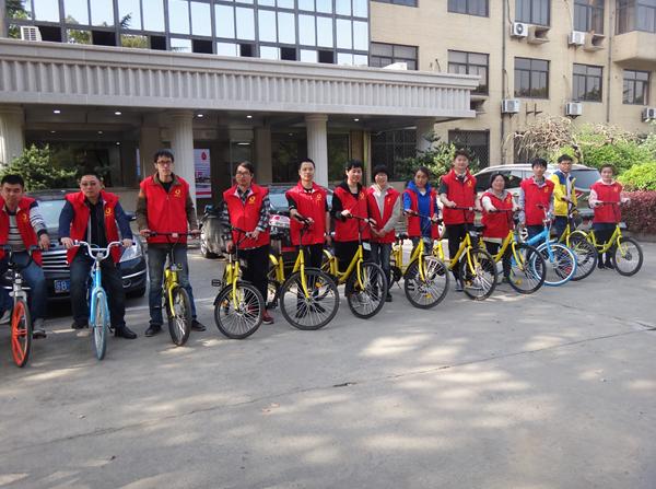 春暖花开日,绿色骑行正当时——惠山区玉祁街道妇联开展绿色骑行活动